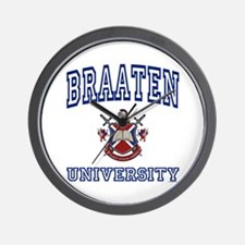 BRAATEN University Wall Clock