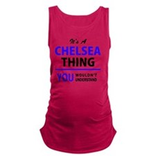 Funny Chelsea Maternity Tank Top