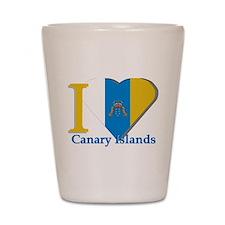 I love Canary Islands Shot Glass