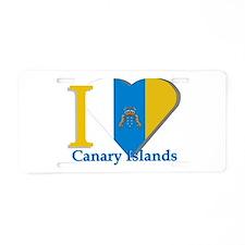 I love Canary Islands Aluminum License Plate