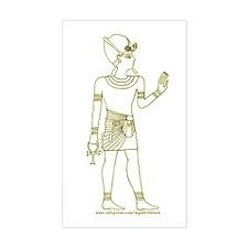 Pharaoh II Hieroglyph Rectangle Decal