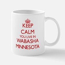 Keep calm you live in Wabasha Minnesota Mugs