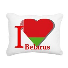 I love Belarus Rectangular Canvas Pillow