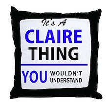 Unique Claires Throw Pillow