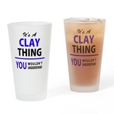 Funny Clay Drinking Glass