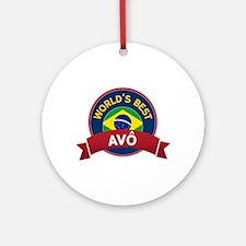 World's Best Avo Ornament (Round)