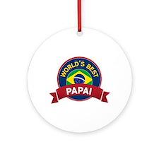 World's Best Papai Ornament (Round)