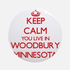 Keep calm you live in Woodbury Mi Ornament (Round)