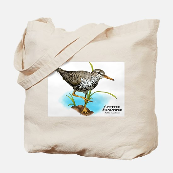 Spotted Sandpiper Tote Bag