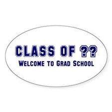 """Class of ?? Welcome..."" Oval Decal"