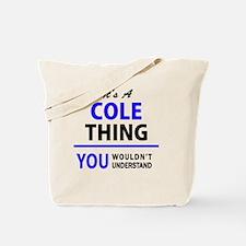 Cute Cole Tote Bag