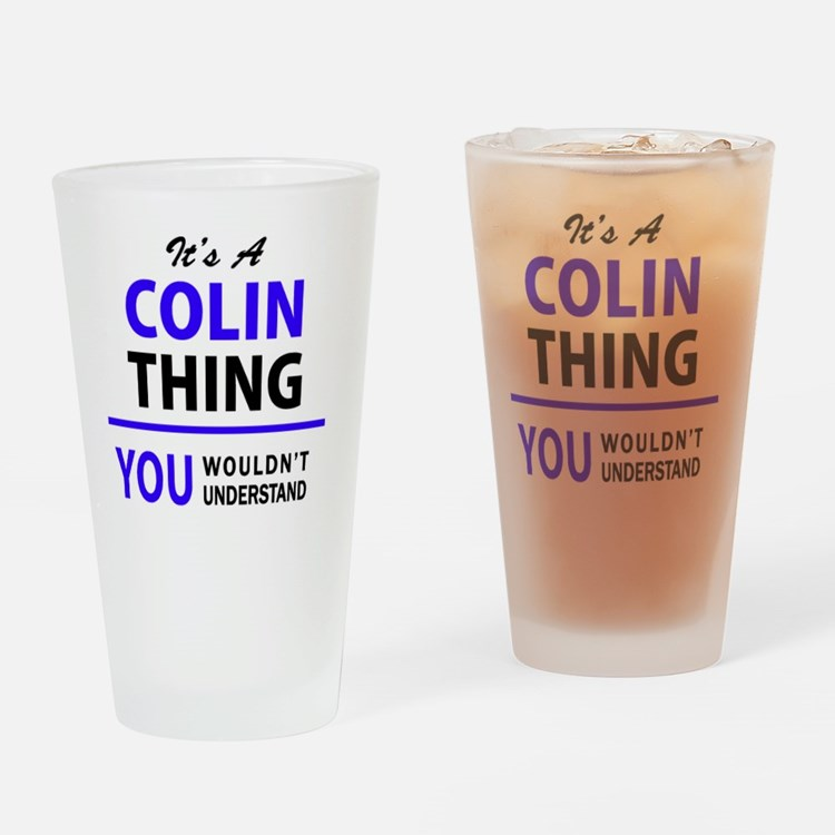 Cute Colin Drinking Glass