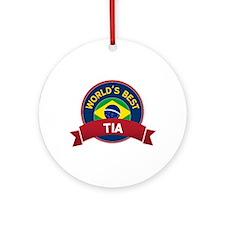 World's Best Tia Ornament (Round)