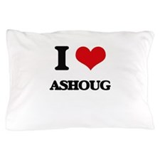 I Love ASHOUG Pillow Case