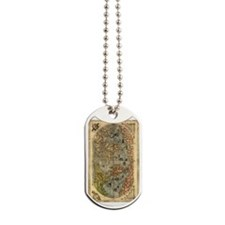 World Map Vintage Atlas Historical Dog Tags