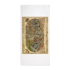 World Map Vintage Atlas Historical Beach Towel