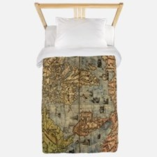 World Map Vintage Atlas Historical Twin Duvet