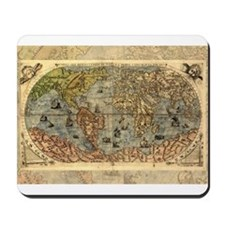 World Map Vintage Atlas Historical Mousepad