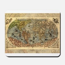 World Map Vintage Atlas Historical Mousepad