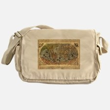 World Map Vintage Atlas Historical Messenger Bag