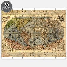 World Map Vintage Atlas Historical Puzzle