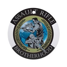 Assault Rifle Brotherhood Ornament (Round)