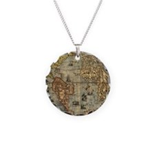 World Map Vintage Atlas Historical Necklace