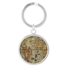 World Map Vintage Atlas Historical Keychains