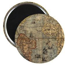 World Map Vintage Atlas Historical Magnets