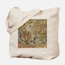 World Map Vintage Atlas Historical Tote Bag