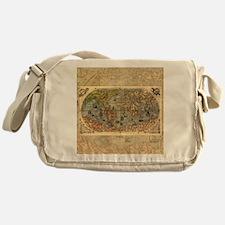 World Map Vintage Atlas Historical Messenger Bag