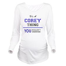 Cute Corey Long Sleeve Maternity T-Shirt
