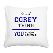 Funny Corey Square Canvas Pillow