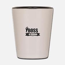 Boss In Training Shot Glass