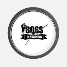 Boss In Training Wall Clock