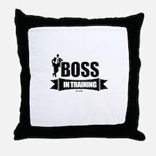 Boss In Training Throw Pillow