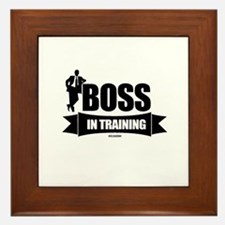 Boss In Training Framed Tile