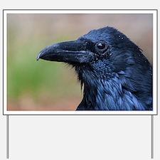 Portrait of a Raven Yard Sign