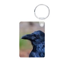 Portrait of a Raven Keychains