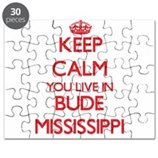 Keep calm you live in Bude Mississippi Puzzle