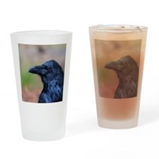 Portrait of a Raven Drinking Glass