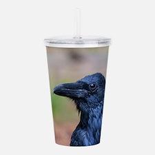 Portrait of a Raven Acrylic Double-wall Tumbler
