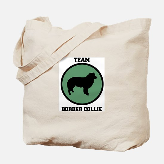 Team  Border Collie (green) Tote Bag