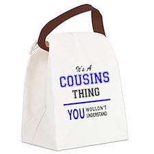 Unique Cousin Canvas Lunch Bag