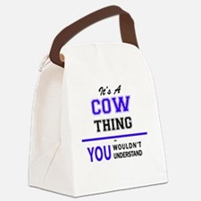 Funny Cow Canvas Lunch Bag
