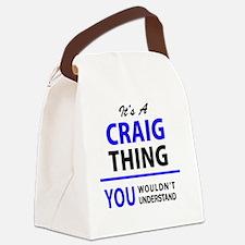 Cute Craig Canvas Lunch Bag