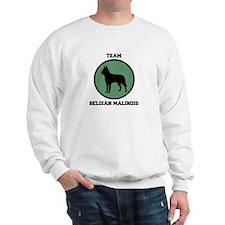 Team  Belgian Malinois (green Sweatshirt