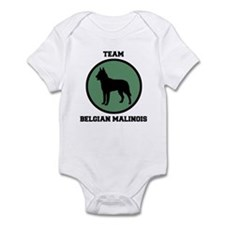 Team  Belgian Malinois (green Infant Bodysuit