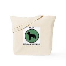 Team  Belgian Malinois (green Tote Bag