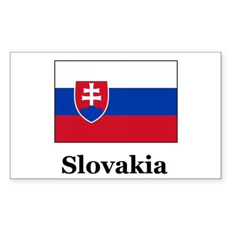 Slovakian Heritage Slovakia Rectangle Sticker